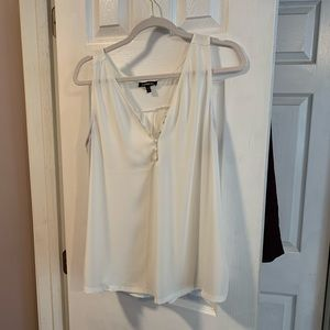 White express tank top blouse sz L